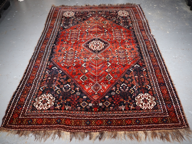 ***£350/$450*** Abedeh rug size:246 x 159cm. click the link www.knightsantiques.co.uk to view more items.