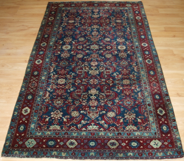Antique Indian Agra rug with all over design and superb colour. www.knightsantiques.co.uk   Circa 1890.  This rug was possibly woven in the prisons of Agra, India during the latter part of the 19th century.  ...
