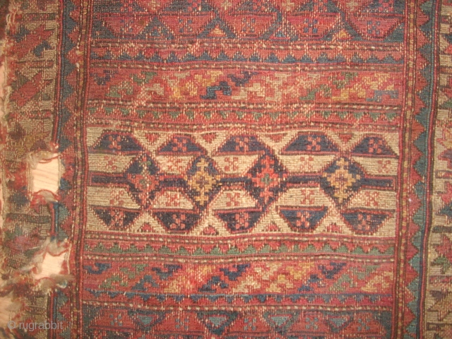 SHAHSAVAN SUMAK HORJIN FRAGMENT. FIRST QUARTER OF 19CH. SPECTACULOR COLORS MIXED OF THREE KINDS OF TECHNICS: KILIM, SUMAK ,PIEL. THE PEACE NEVER TOUCHED, THERE IS NO OLD REPAIRS. IN THE END OF THE HORJIN WE  ...