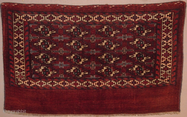 Antique Turkmen Yomut 16 gul chuval in lovely condition.  All dyes appear natural.  Please inquire.