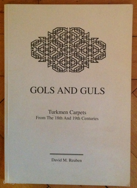 Exhibition catalogue of Turkmen carpets. Price £80 + packing + postage. Few copies  are left.