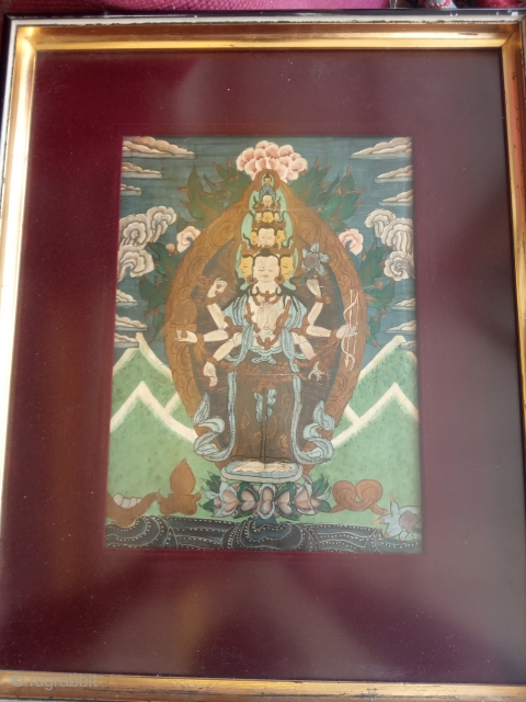 Paiting old Tibet size:26x19-cm please ask