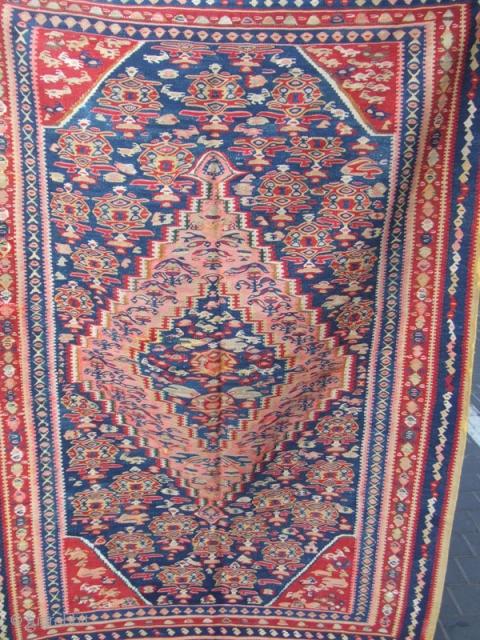 Beautiful Persian Antique Senna Rug Kilim Hand Made The