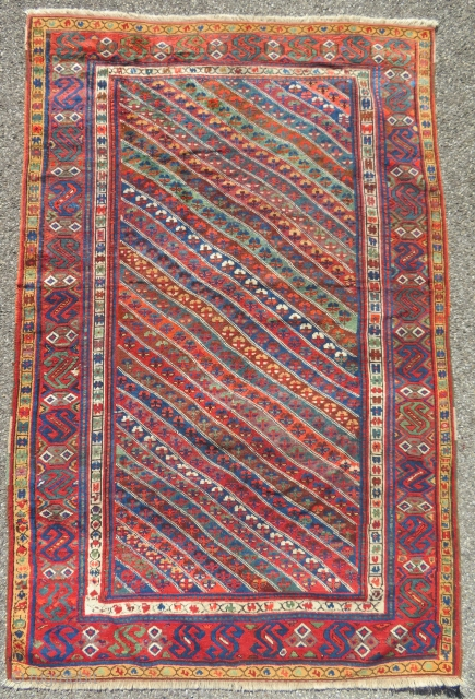 Antique kurdish carpet.