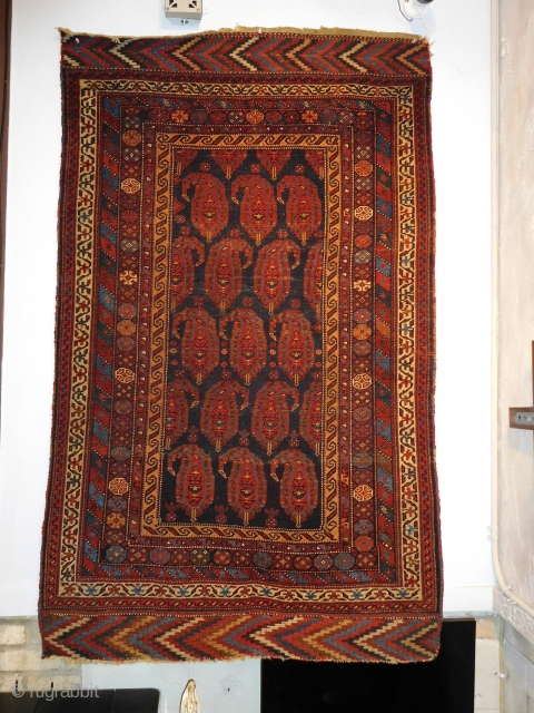 3.7x6 19th century Afshar 