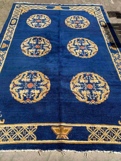 Chinese antik rug ind very nice condition with beautiful color