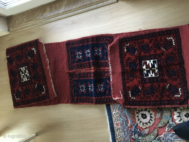 Yagcbedir Bergama sadlebag with naturell Colors in perfekt Condition
