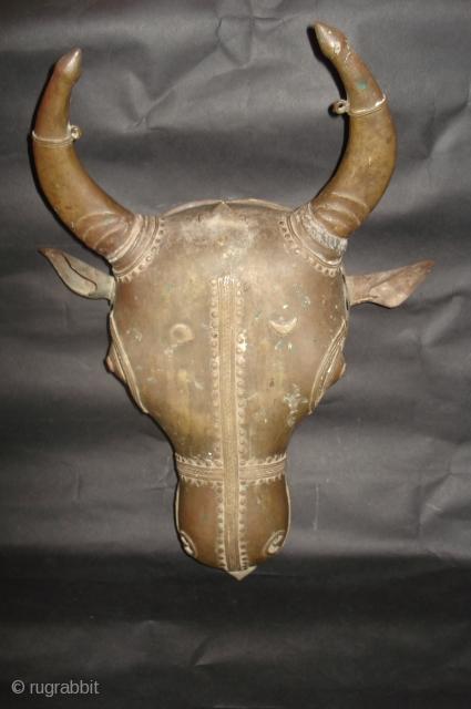The Bull (NANDI) Bhuta Mask from Karnatka region.