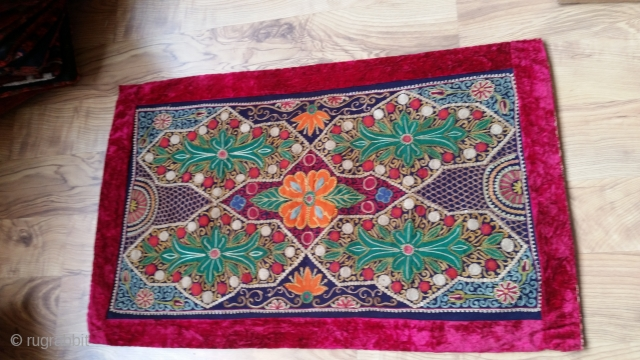 Over hundred years old small size (0,55 × 0,33) Rashed.  In perfect condition and prety colors .