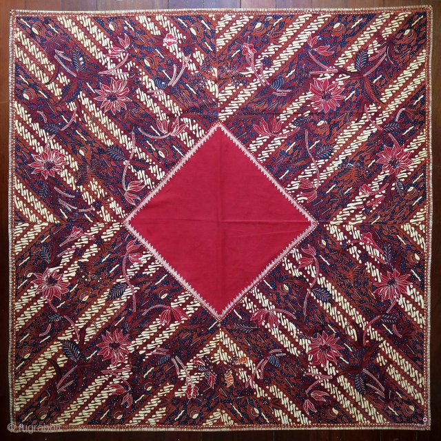 Java | Mid 20th C Hand-Drawn Batik Head Cloth (Iket Kepala)