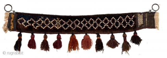 Baluch horse collar. Circa 85cm x 12cm.