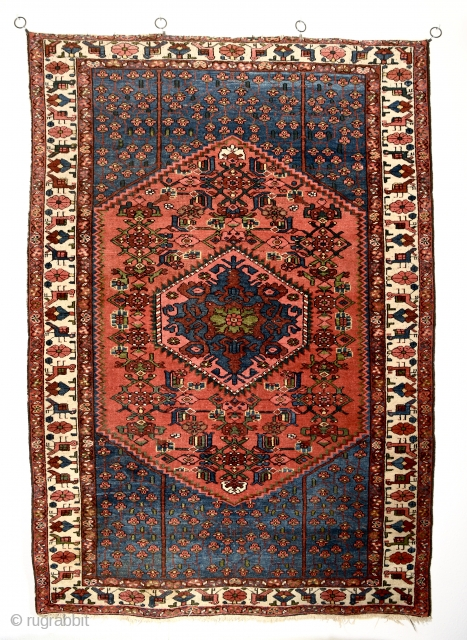Persian Talesh. In good condition. All natural colors. Early 1900's. 201cm x 139cm/ 79x51 inches.