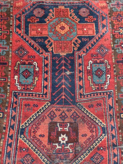 East Anatolian keyhole rug, nice color and classic design.