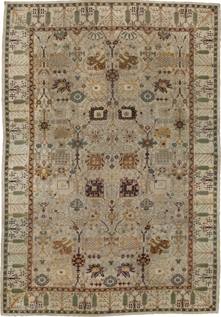 """Antique Indian Agra Rug India ca. 1890 18'9"""" x 13'1"""" (572 x 399 cm) FJ Hakimian Reference #09098"""