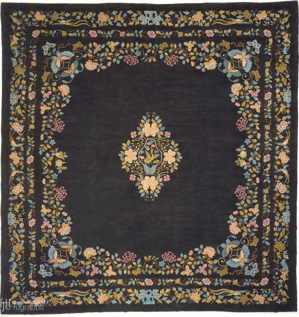 """Antique Chinese Rug China ca.1900 13'9"""" x 13'1"""" (420 x 399 cm) FJ Hakimian Reference #08004"""