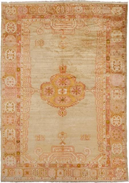 "Antique Turkish Oushak Rug Turkey ca.1890 10'4"" x 7'4"" (315 x 224 cm) FJ Hakimian Reference #04146"
