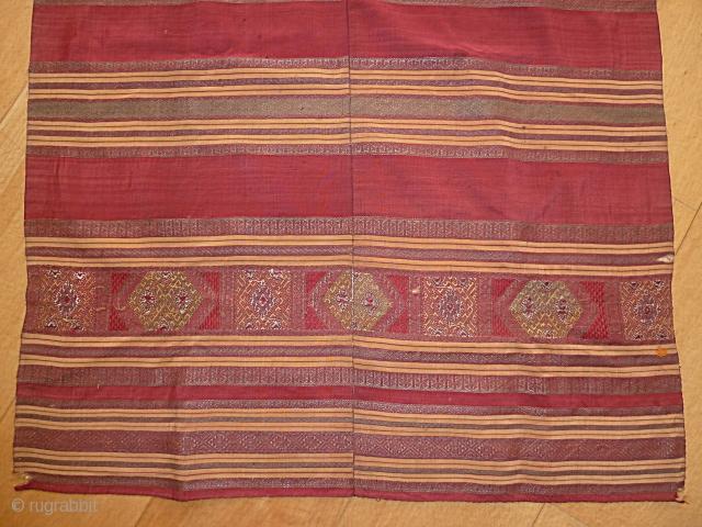 Antique Indonesian Kain Tangkuluak Textile, size 234 x 74 Cm