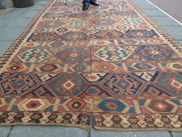 Antique Shassavan Kilim. Good condition. Size 87 x 321 / 87 x 340 Cm
