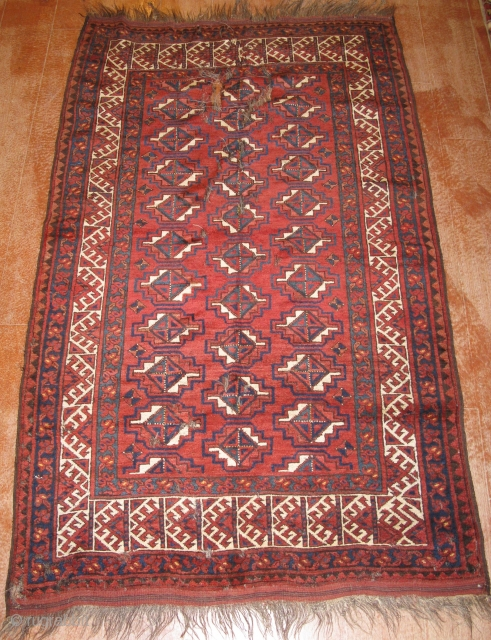 4293-Ersari carpet size 195x123
