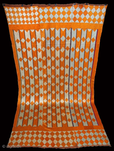Phulkari From West(Pakistan)Punjab India Called As Diamond Bagh. Rare Pallu Design.Extremely Fine Phulkari.(DSE02800).