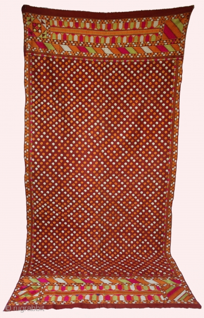 Vintage Phulkari from East(India)punjab India Called As Mughal Buti Phulkari Rare Influence of Design. Perfect condition.(DSE00520)