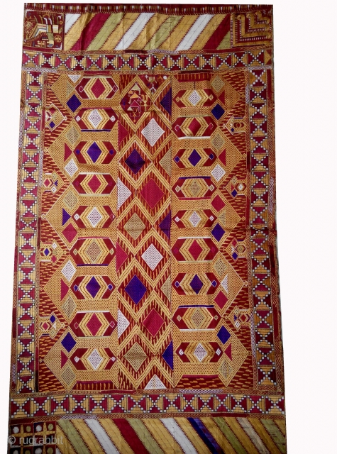 Phulkari from east(India) Punjab,India. known as Darshan Darwaja. one of the rare design in Indian Phulkari. In a very good condition.