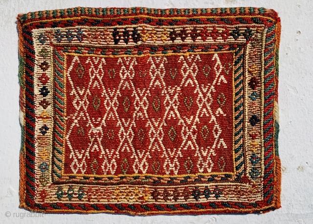 flatweave Qashqai chanteh1880 circa, perfect condition size•••20x26cm