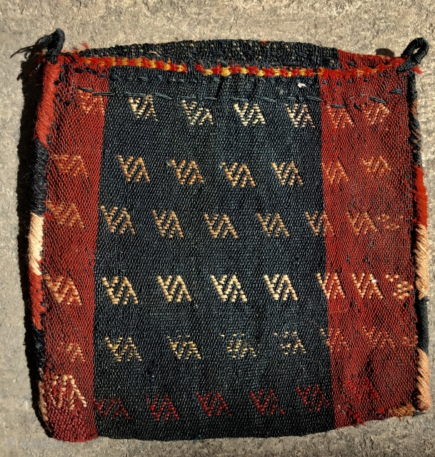 beautiful Flatweave Qashqai chanteh all good colors,size30x30cm