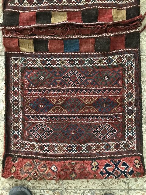 Kordish saddlebag in perfect condition,Circa:1880,Size:130X59 cm