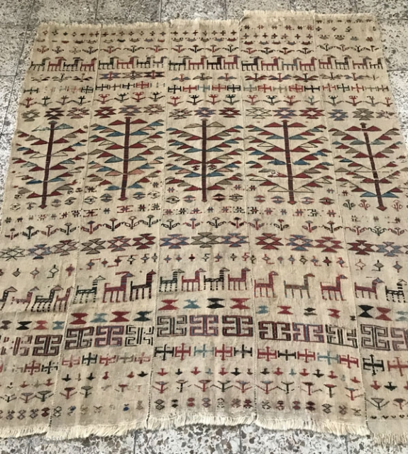 Shahsavan verneh pre-1850.Size:175 x 155 cm,Came if after a hand wash