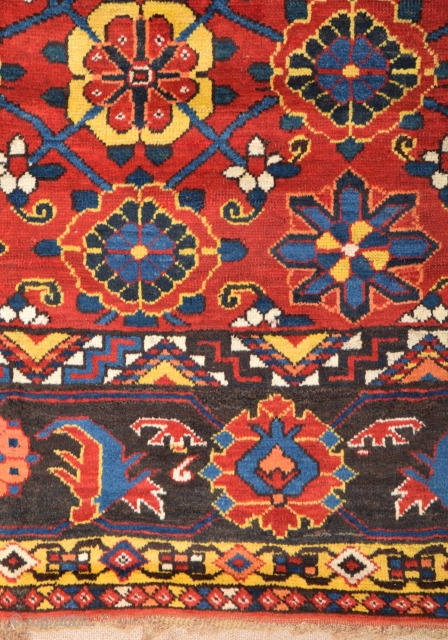 Mid 19th Century Turkmen Beshir Main Carpet size 208x330 cm