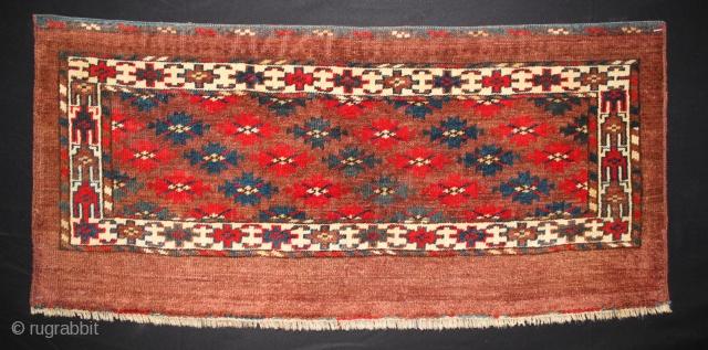 ca.1900 wonderful Yomut mafrash,,nice Natural colours,,size:37x80 cm  1.3x2.8 ft