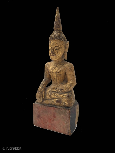 Lovely 19th century Thai Gilded Buddha 25cm x 8.5cm  Please enquire for further photos and price