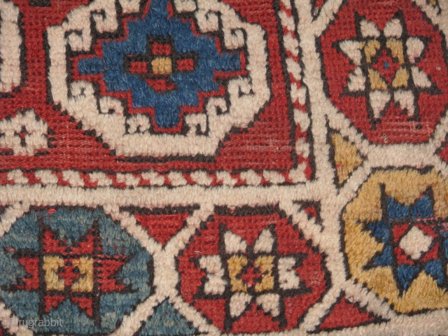 Early Anatolian Rug.Canakkale,Bergama?it is a lovely piece with early colours.great wool.worn out mainly in the middle of the rug and also some holes(damages)but it looks great with the pile parts.the figures are  ...