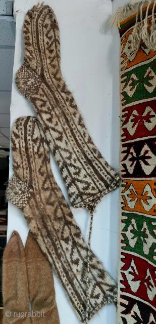 Central anatolia, Cappadocia . Natural wool . Nomad socks