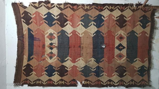 Size : 155x250(cm), Tajik kilim, Northern Afghanistan, circa 1900