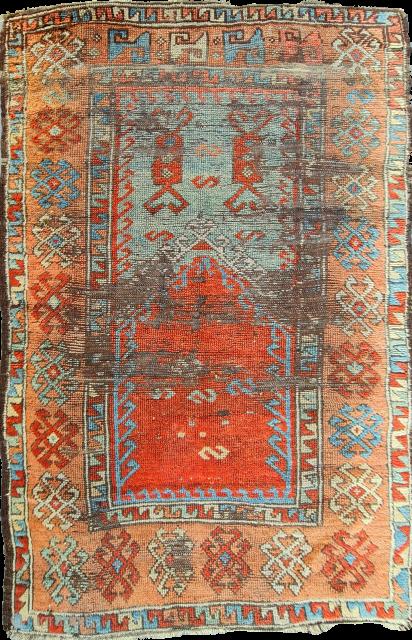 Size : 108 x 152 cm, Central anatolia, Konya (ladik). Ca 1800s