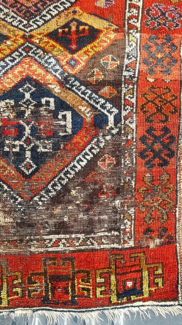 Size : 88 x 230 (cm), East anatolia , Elazig (savak).  old repair available in several places.