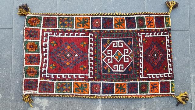 Size : 58 x 102 (cm), Middle anatolia , Çankiri , synthetic orange