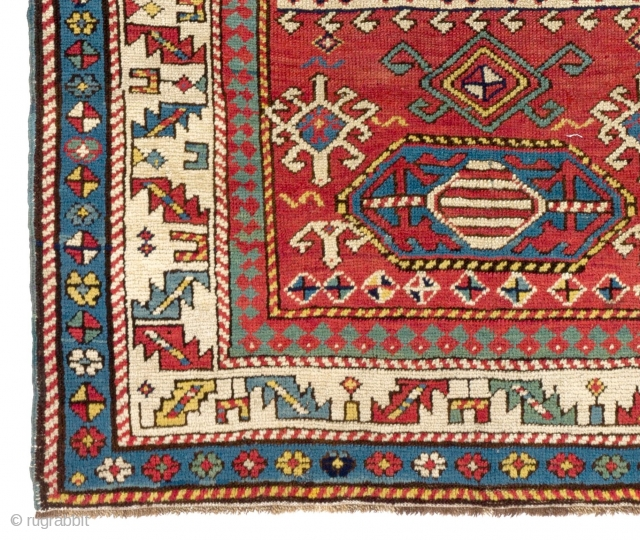 Kazak Prayer Rug, 97x150 cm, 19th Century. Good condition, all original as found.