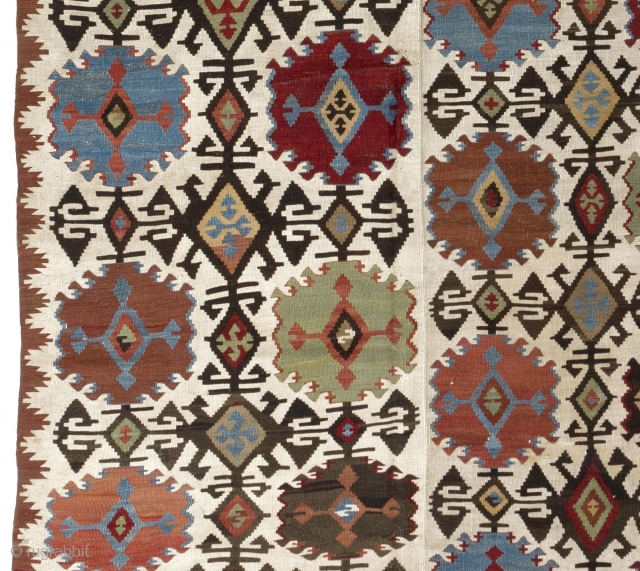 "Large Antique Konya Hotamish Kilim, 5'6"" x 15'9"" - 166x480 cm"