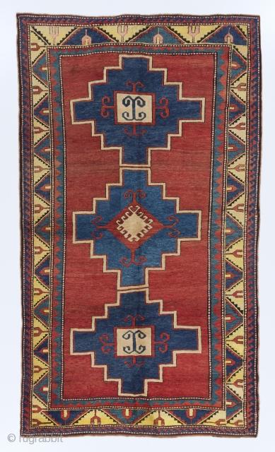 """Antique Caucasian Kazak Rug, 5' x 8'7"""" (153x262 cm), ca 1900. no 4429"""