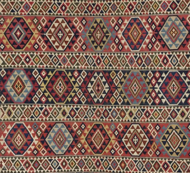 """Fine Antique Shirvan Kilim, NE Caucasus, 19th Century. 5'2"""" x 10' - 156x303 cm"""