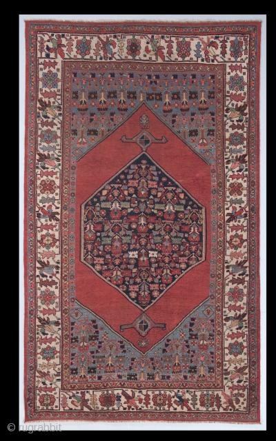 """Antique Persian Bidjar Rug, 5'2"""" x 9' - 161x276 cm, no: 4611"""