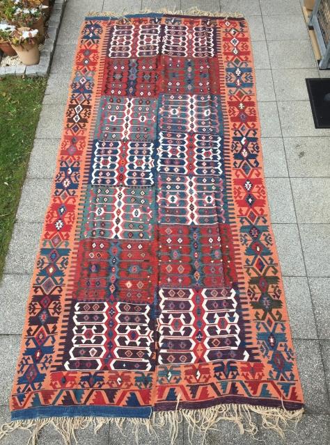 Kelem   Central Anatolia Region Konya   Size: 355 x 170 cm    very good conditions   antique piece