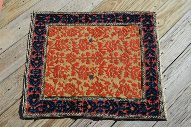 """A small Souf from the Arak District, distinguished by the weave.  Measures 28.5"""" x 25.5"""""""