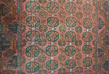 Baluch Rug Around 1940. 140*300cm in good condition with signs of age and usage.