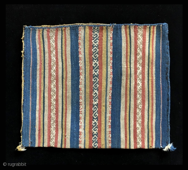 Rare, early and large Aymara bags.  All date to the first part of the 19th century or before.  Very few Aymara bags are this large.  They were made to  ...