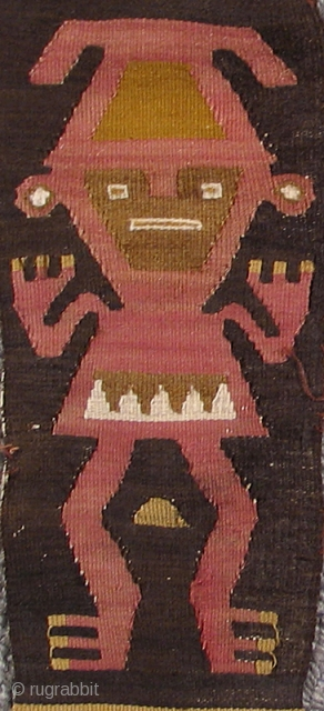 Pre-Columbian Sash With Human Figures, complete and in great condition which is hard to find in such things.. Peru, Chimu Culture, 1000 – 1400 A.D. Many other complete and interesting Pre-Columbnian textiles  ...