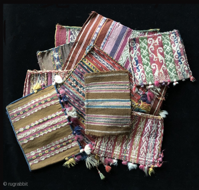 Tutorial Part 7 – Shapes, Sizes and Design Range in Aymara Coca Bags  Featured here is a cluster of 19th century Aymara coca bags.  I plan to use images of these bags  ...